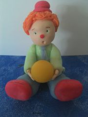 pam, porcelaine froide, clown
